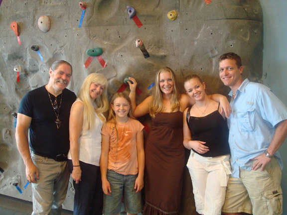 Family picture with all three girls (Tara, Tia, Kyra) and Tia's Fiance Eric